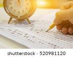 alarm clock  optical form of... | Shutterstock . vector #520981120