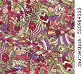 tracery seamless calming...   Shutterstock . vector #520984333