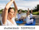 fitness  sport  yoga and... | Shutterstock . vector #520990210