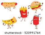 vector set of cartoon colored... | Shutterstock .eps vector #520991764