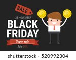 businessman cartoon with text... | Shutterstock .eps vector #520992304