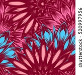 seamless floral background.... | Shutterstock . vector #520997956