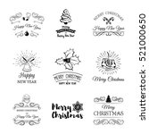 hand drawn christmas and new... | Shutterstock .eps vector #521000650