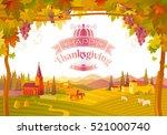 happy thanksgiving | Shutterstock .eps vector #521000740