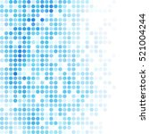 blue random dots background ... | Shutterstock .eps vector #521004244
