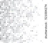 gray white random dots... | Shutterstock .eps vector #521004274