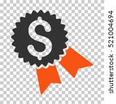 money award icon. vector... | Shutterstock .eps vector #521004694