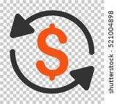 money turnover icon. vector... | Shutterstock .eps vector #521004898