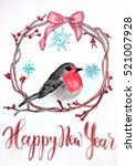 happy new year christmas card.... | Shutterstock . vector #521007928
