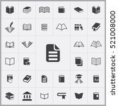 book icon. books icons... | Shutterstock .eps vector #521008000