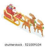 isometric santa claus... | Shutterstock .eps vector #521009104