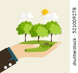eco friendly. ecology concept... | Shutterstock .eps vector #521009278