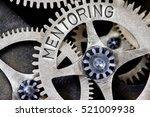 macro photo of tooth wheel... | Shutterstock . vector #521009938