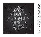 handdrawn thanksgiving label... | Shutterstock .eps vector #521013943