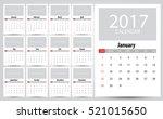 2017 calendar planner design....   Shutterstock .eps vector #521015650