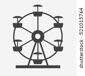 ferris wheel icon silhouette.... | Shutterstock .eps vector #521015764