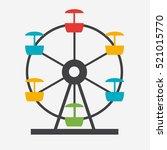 ferris wheel icon silhouette.... | Shutterstock .eps vector #521015770