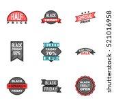 price down icons set. cartoon... | Shutterstock . vector #521016958