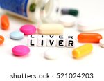 liver problems concept with...   Shutterstock . vector #521024203