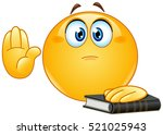 emoticon taking oath or... | Shutterstock .eps vector #521025943