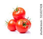 tomato vegetables isolated on... | Shutterstock . vector #521027428