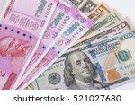 2000 rupee banknote over us... | Shutterstock . vector #521027680