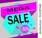 mega. sale. sale. | Shutterstock .eps vector #521029468