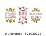 set of thanksgiving elements.... | Shutterstock .eps vector #521030128
