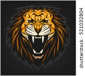 lion head illustration | Shutterstock .eps vector #521032804