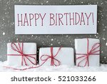 white gift with snowflakes ... | Shutterstock . vector #521033266