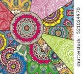 vector patchwork pattern.... | Shutterstock .eps vector #521034970
