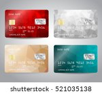 realistic detailed credit cards ... | Shutterstock .eps vector #521035138