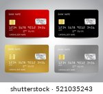 Realistic Detailed Credit Card...