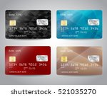realistic detailed credit cards ... | Shutterstock .eps vector #521035270