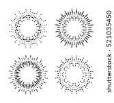 halftone effect vector... | Shutterstock .eps vector #521035450