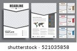 set the size of a4 flyer.... | Shutterstock .eps vector #521035858
