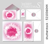 merry christmas party... | Shutterstock .eps vector #521036044