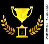 gold cup for first place ... | Shutterstock .eps vector #521036230