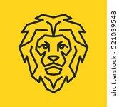 lion minimalistic flat line...