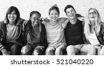 diversity students friends... | Shutterstock . vector #521040220