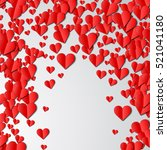 valentines day card with... | Shutterstock .eps vector #521041180