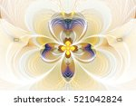 Abstract Flower On White...