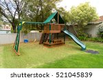 view of kids playground in... | Shutterstock . vector #521045839