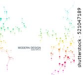 dna and neurons vector....   Shutterstock .eps vector #521047189
