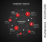 company profile overview... | Shutterstock .eps vector #521051200