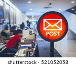 post office signage counter... | Shutterstock . vector #521052058