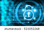 safety concept  closed padlock... | Shutterstock .eps vector #521052268