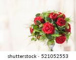 Stock photo bouquet with roses 521052553
