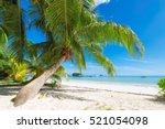 beautiful beach at praslin...   Shutterstock . vector #521054098
