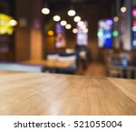table top colorful light... | Shutterstock . vector #521055004
